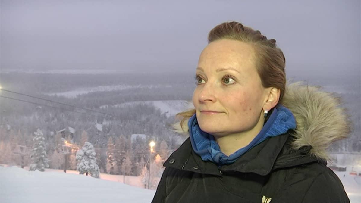Pyhätunturi Oy:n vastaanottopäällikkö Terhi Kangas