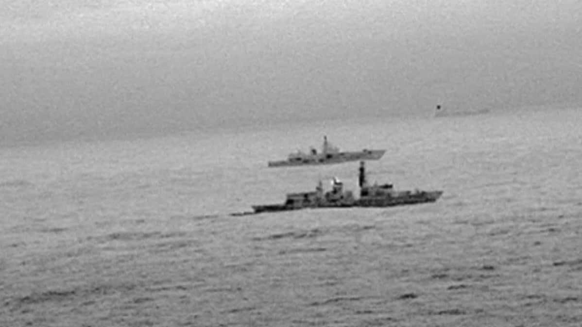 Britannian laivaston alus seurasi venäläisalusta Pohjanmerellä.