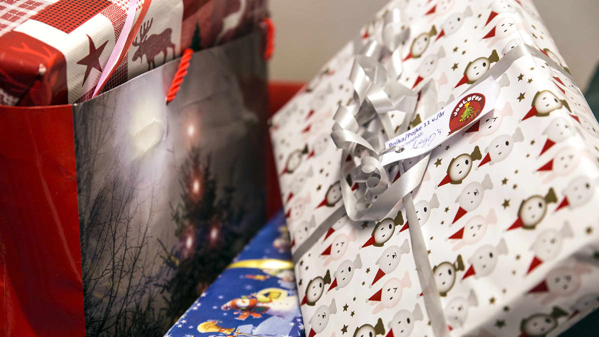 Joululahjoja.