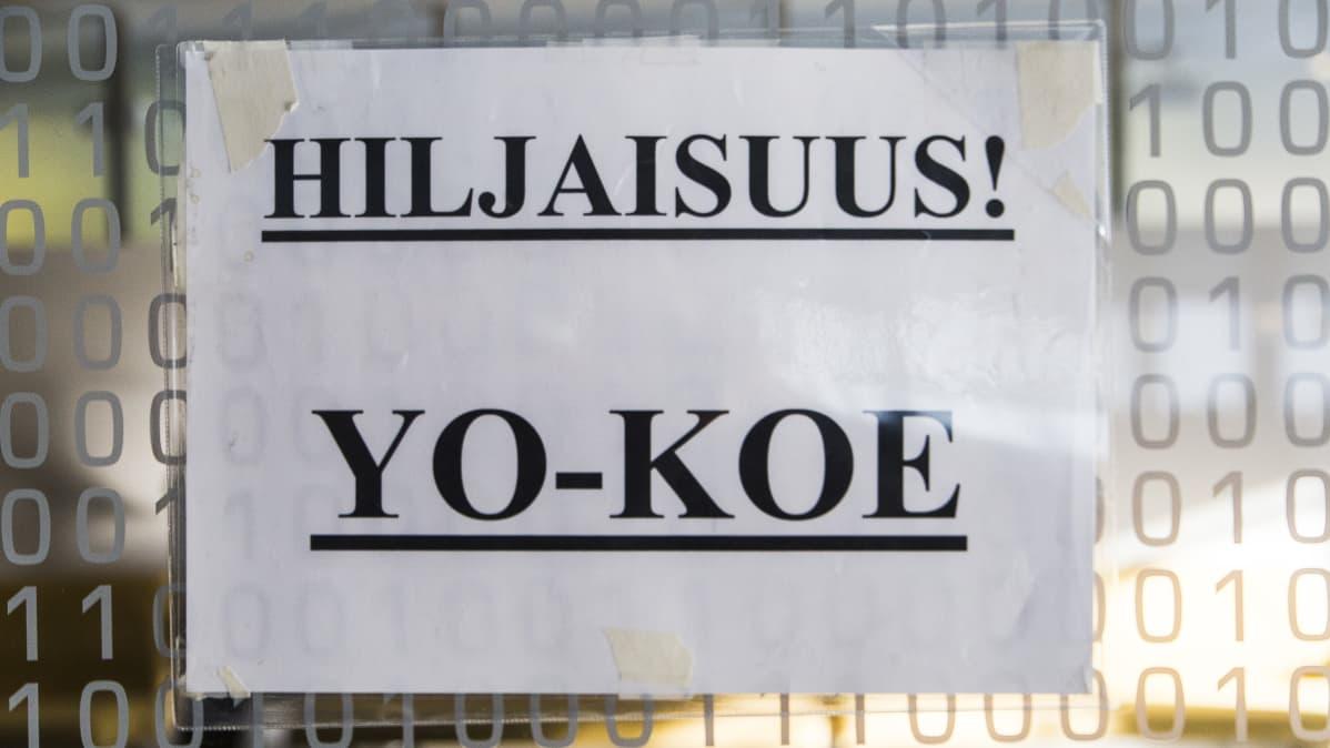 Hiljaisuus YO-KOE ilmoituslappu, Tikkurilan Lukio