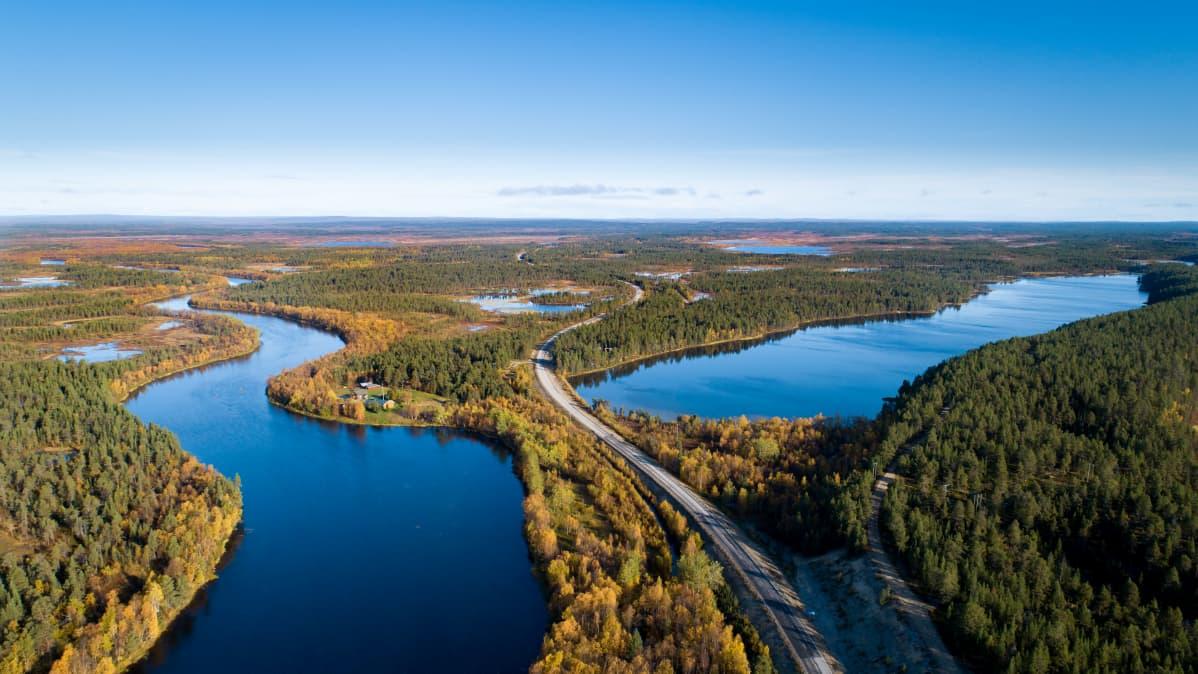Ruska Inarin Tuurujärvellä