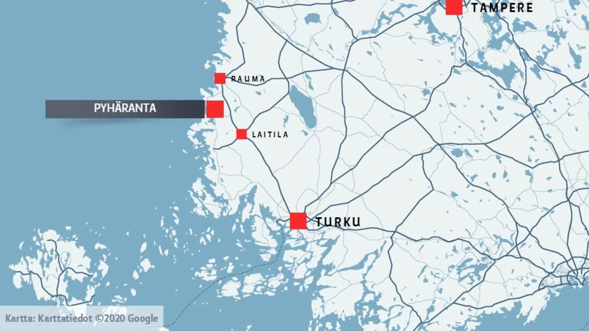 Pyhärannan kunta kartalla