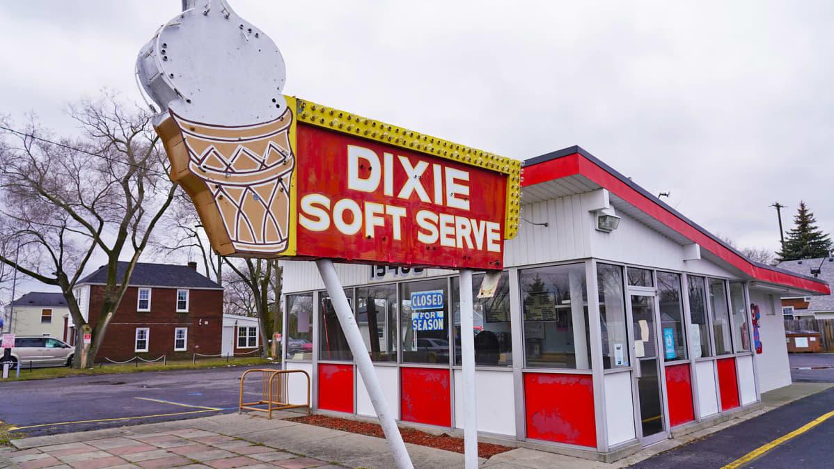 Dixie Soft Serve -kioski Monroessa Michiganissa