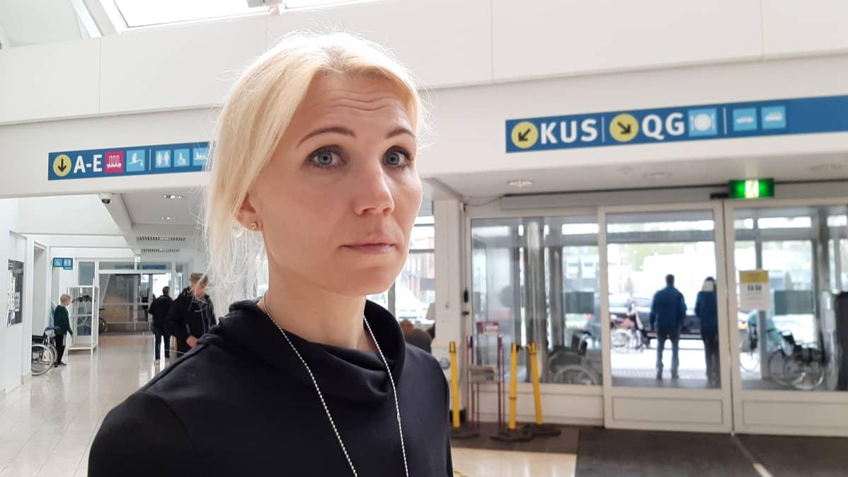 Vaasan sairaanhoitopiirin johtaja Marina Kinnunen.