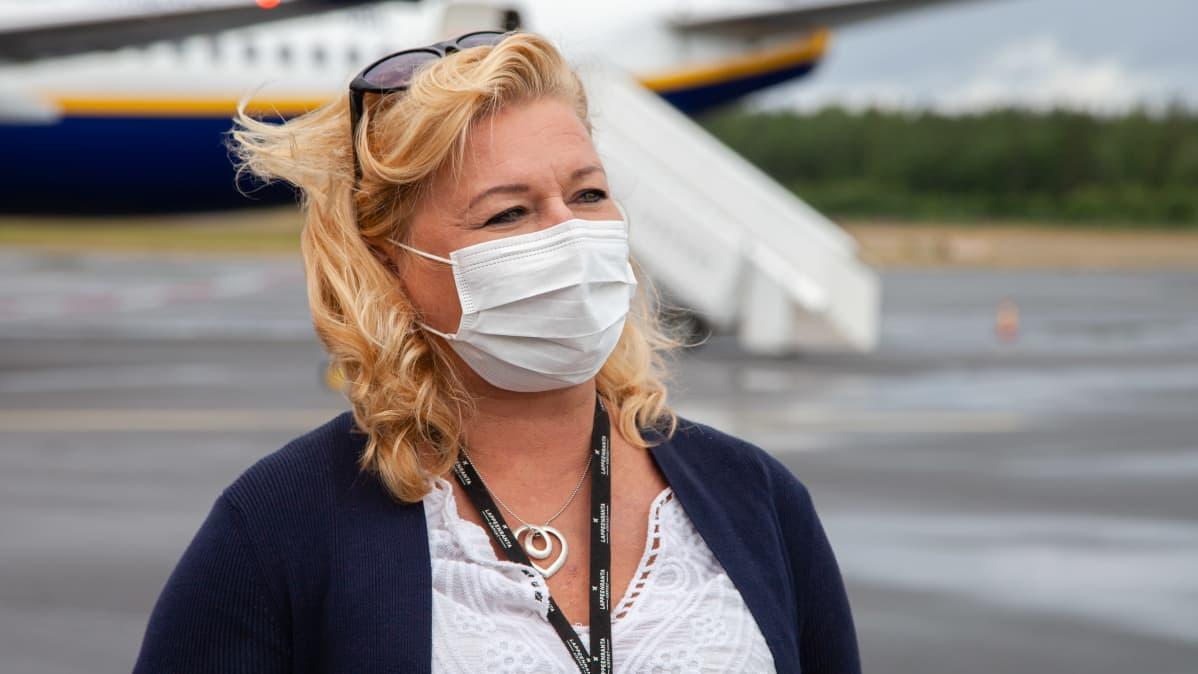Lappeenrannan Lentoasema Oy:n toimitusjohtaja Eija Joro.