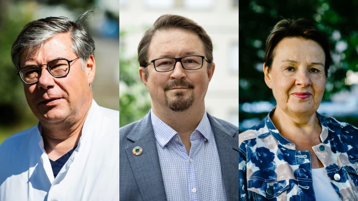 Asko Järvinen, Mika Salminen ja Kirsi Varhila