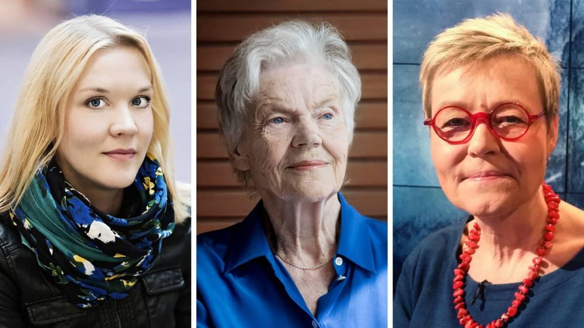 Kollaasissa ovat Johanna Holmström, Märta Tikkanen ja Susanna Ginman.