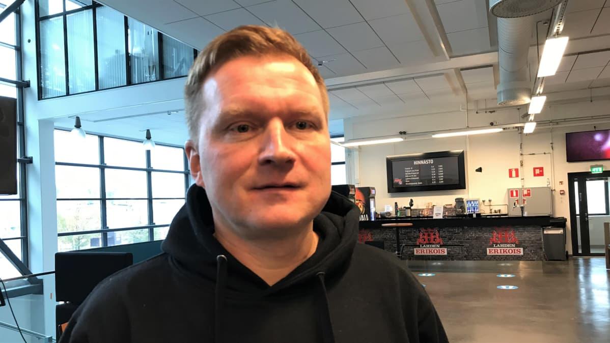 Lahden Pelicans Oy:n toimitusjohtaja Lauri Pöyhönen