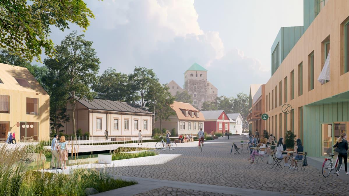 Turun Linnanniemen ideakilpailu - Kolme palaa