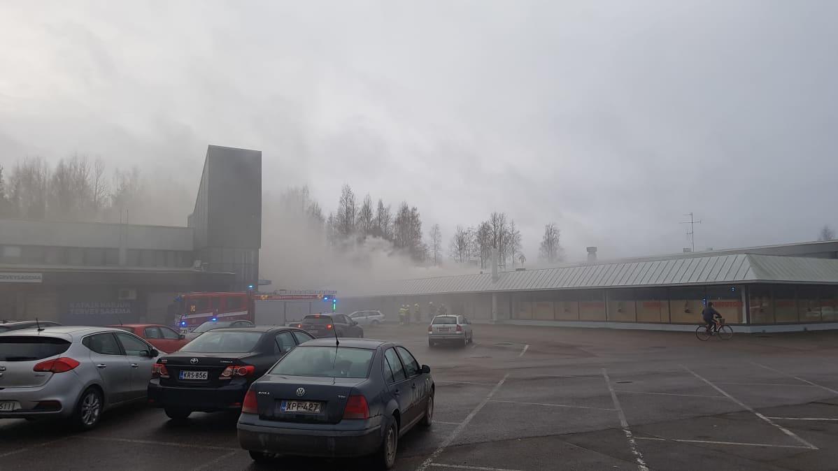Tulipalo Kouvolassa Katajaharjuntiellä
