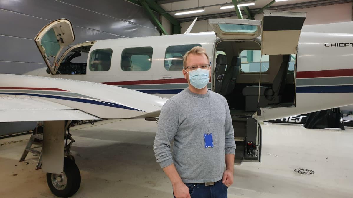 JS Aviationin toimitusjohtaja Mikko Lahti
