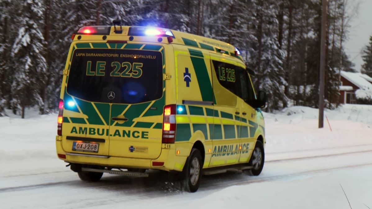 Lapin sairaanhoitopiirin Kittilän ensihoidon ambulanssi