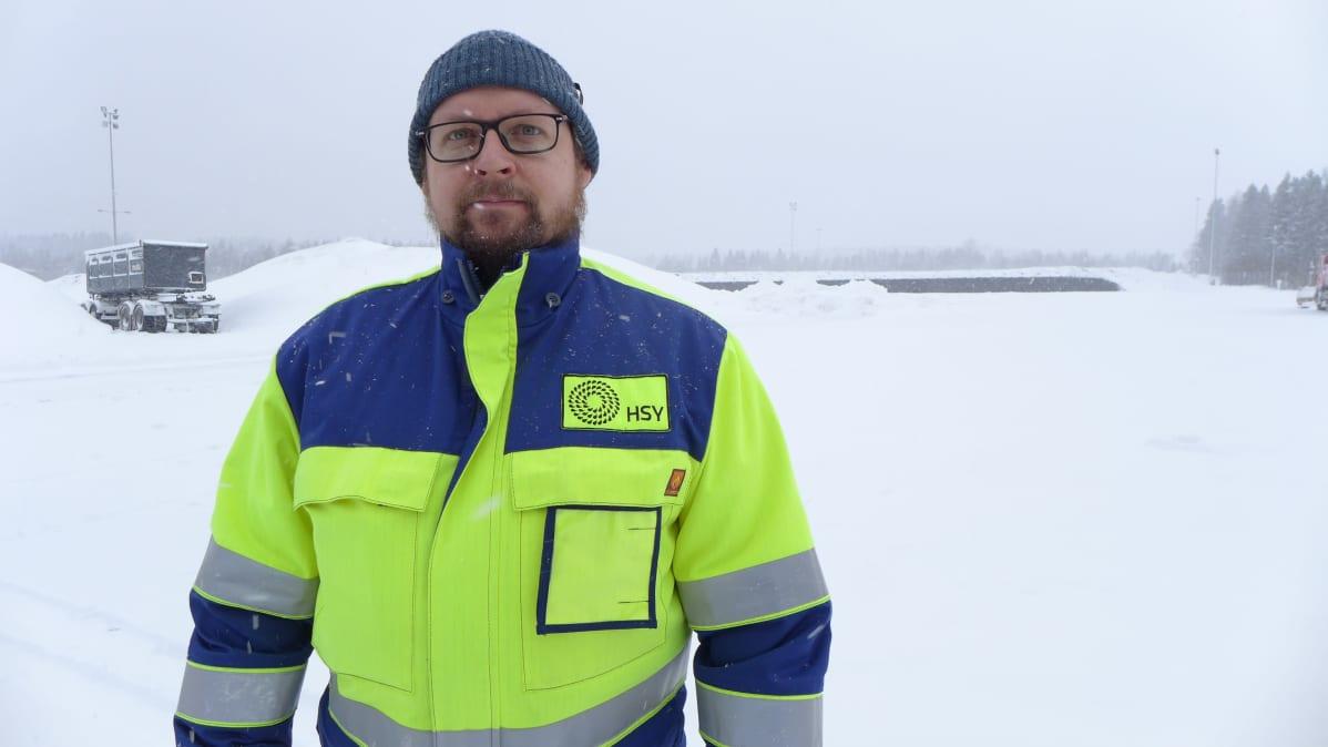 Yksikön päällikkö Janne Nipuli HSY:n jätevesien käsittely, Metsäpirtin kompostointiasema