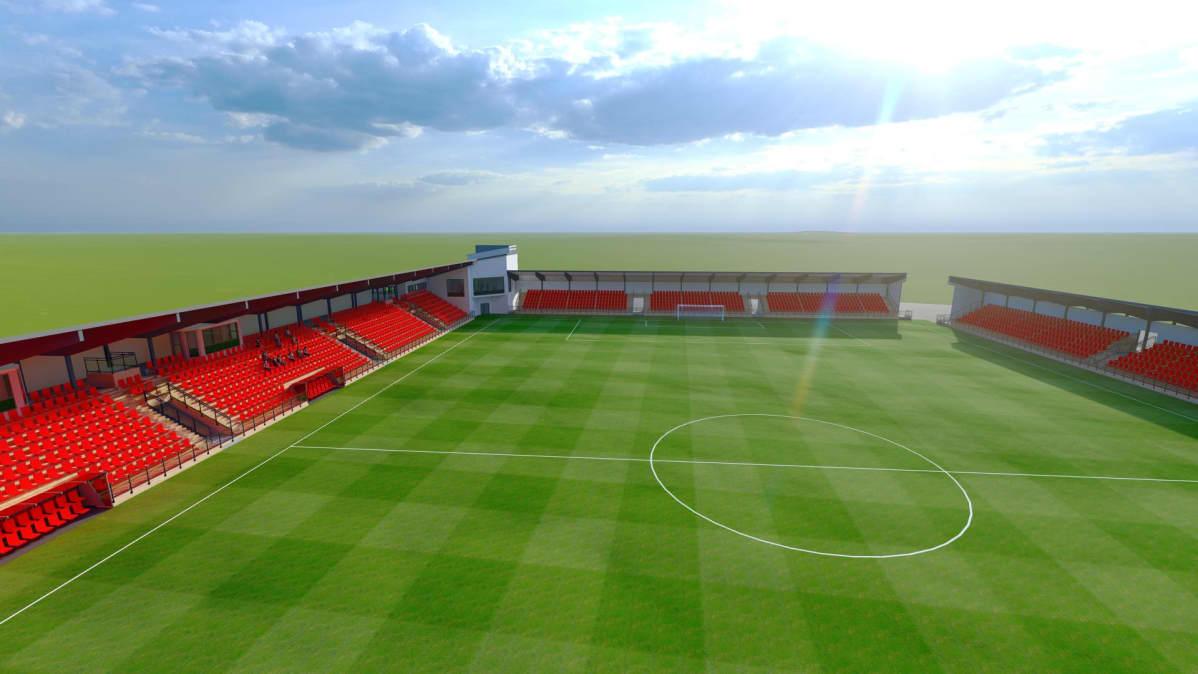Bild över hur Jeppis Stadion ska se ut när den är klar.