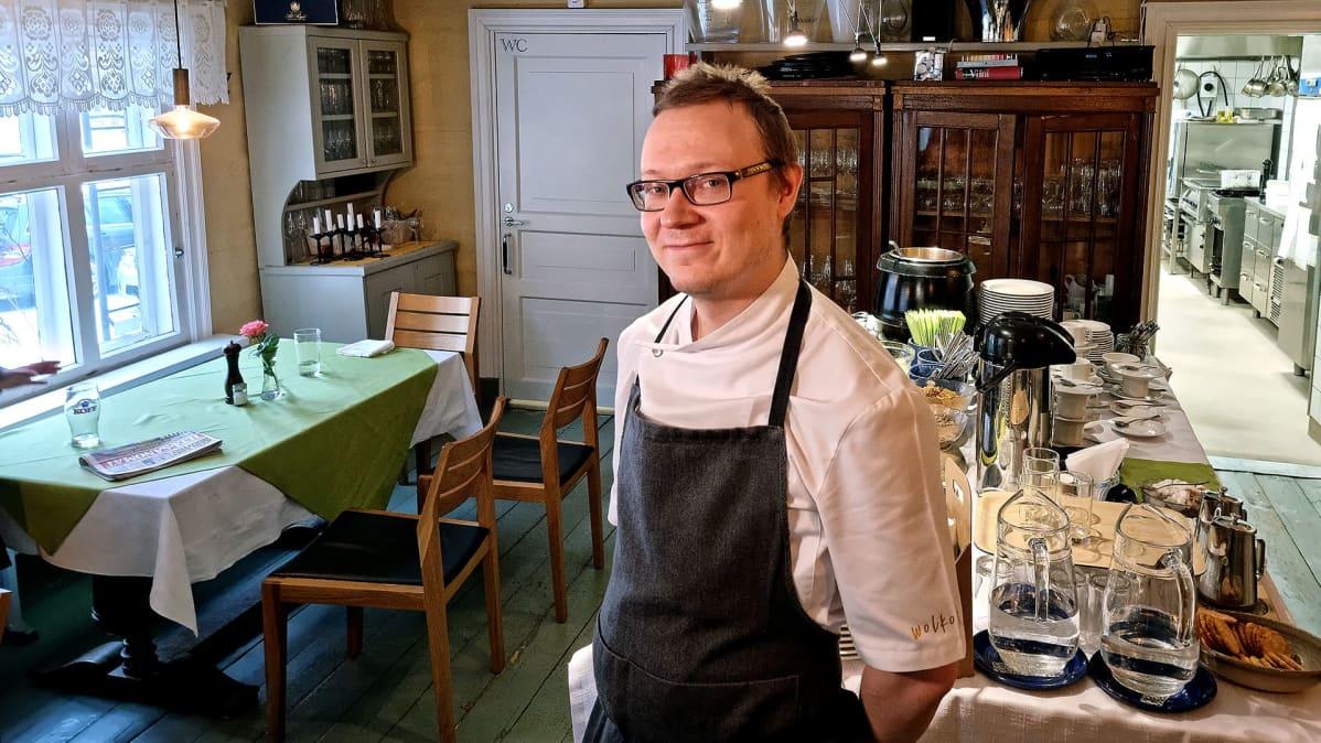 Ravintola Wolkoffin yrittäjä Karo Sintonen