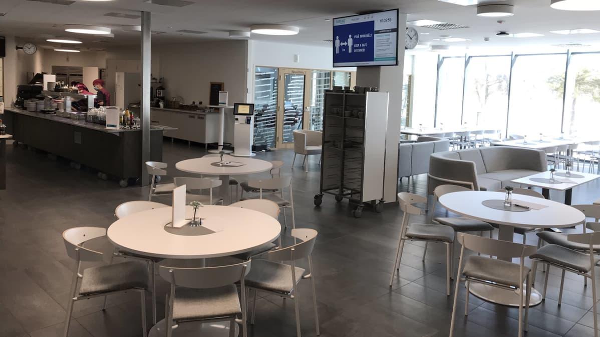 Kahvilatilat Varkauden hyvinvointikeskuksessa