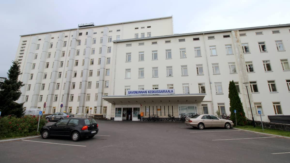 Savonlinnan keskussairaala syyskuussa 2018.