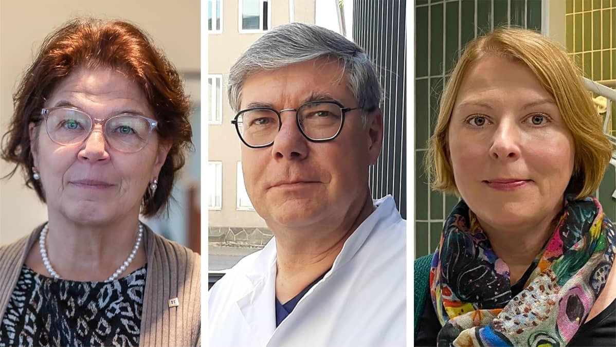 Silja Paavola, Asko Järvinen ja Else-Mai Kirvesniemi.