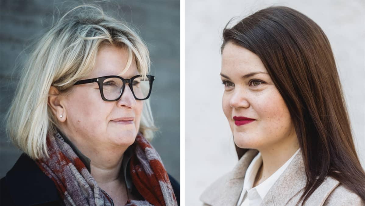 Sosiaali- ja terveysministeriön hallitusneuvos Auli Valli-Lintu ja HALI ry:n Eveliina Vigelius.