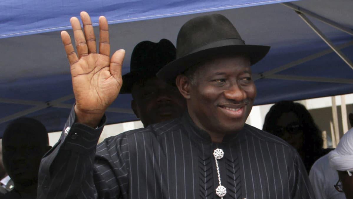 Nigerian presidentti Goodluck Jonathan.