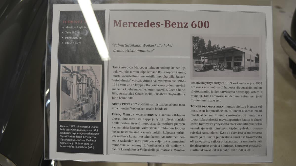 MB 600 tiedot