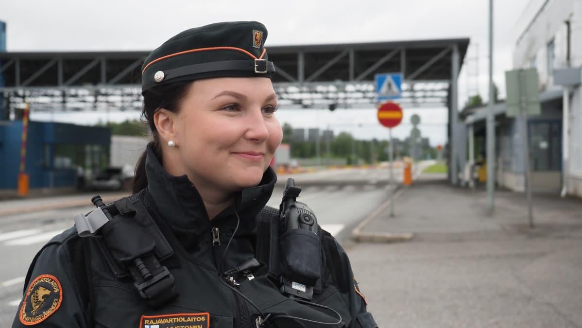 Heidi Mustonen rajavartija Pohjois-Karjalan rajavartiosto