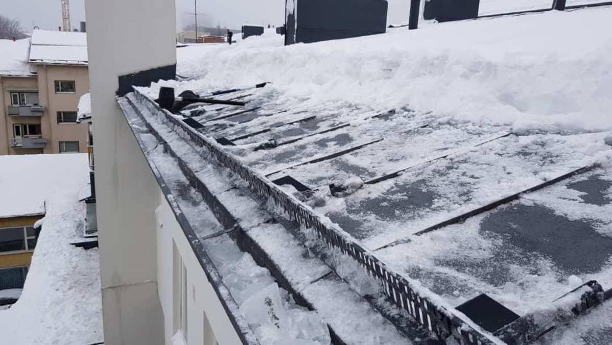 Lumesta putsattua kattoa