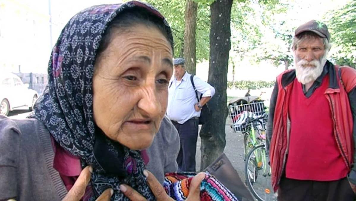 Nyt 70-vuotias Veronica tuli Suomeen ensimmäisen kerran 4-5 vuotta sitten. Hänelle ei ollut toimeentuloa Romaniassa.