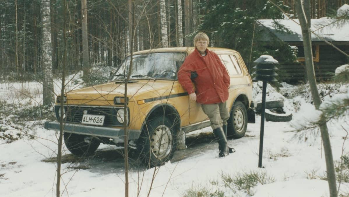 Lada-harrastaja Raimo Laitinen 1980-luvulla.