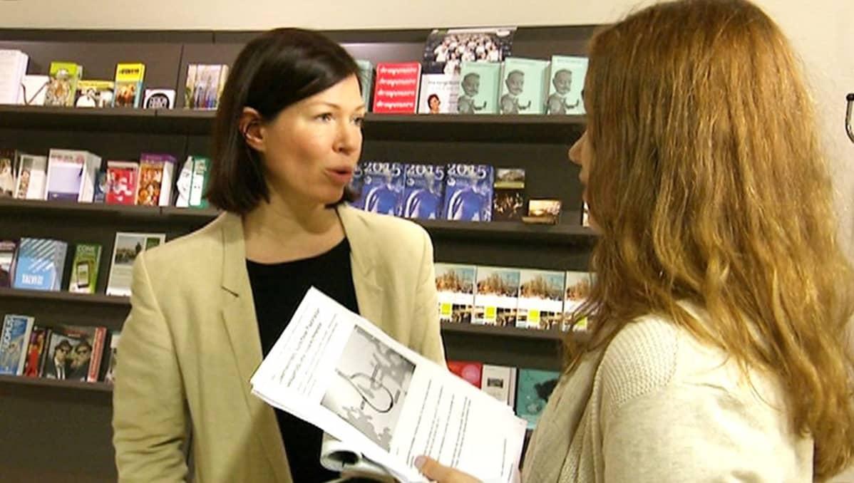Helsingin apulaiskaupunginjohtaja Anni Sinnemäki Ylen haastattelussa 24. helmikuuta.
