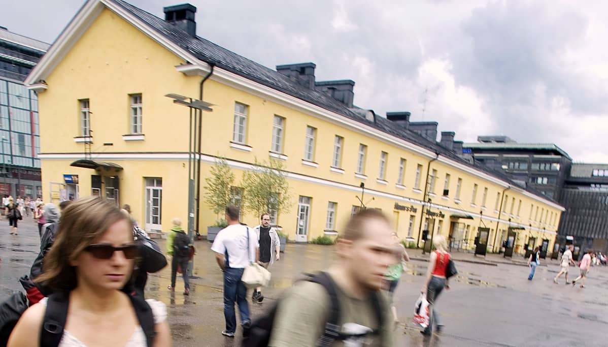 Helsingin vanha linja-autoasema.