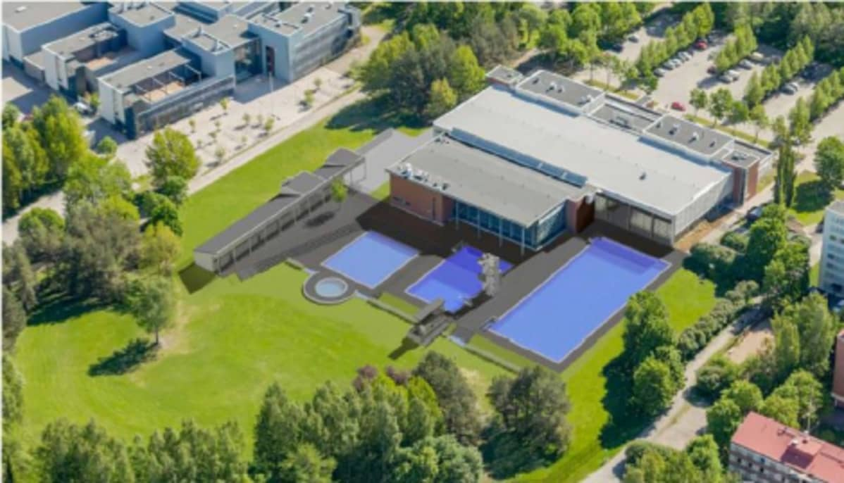 Havainnekuva Tampereen maauimalasta