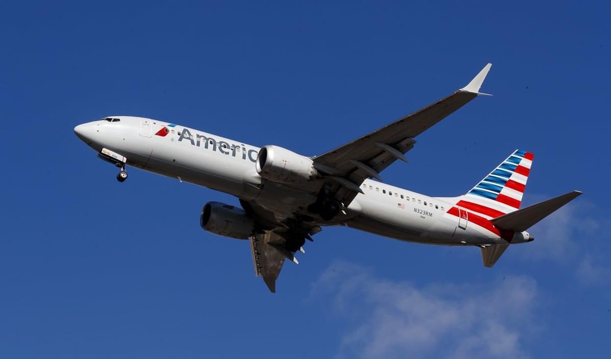 American Airlinesin lentokone.