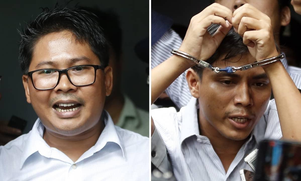 Reutersin toimittajat Wa Lone ja Kyaw Soe Oo
