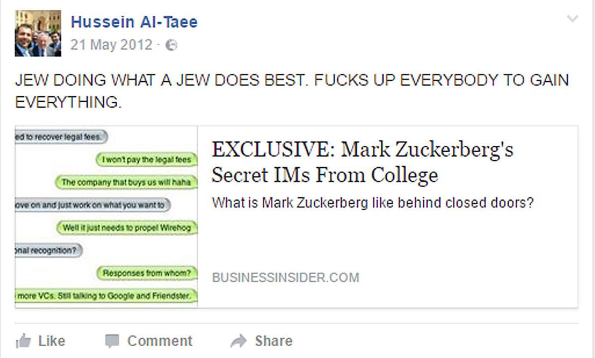 Facebook-kuvakaappaus