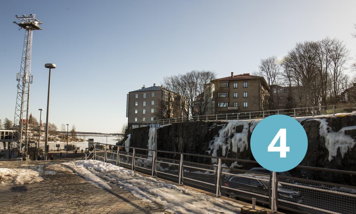 Näköala Eteläsatamasta Suomenlinnaan