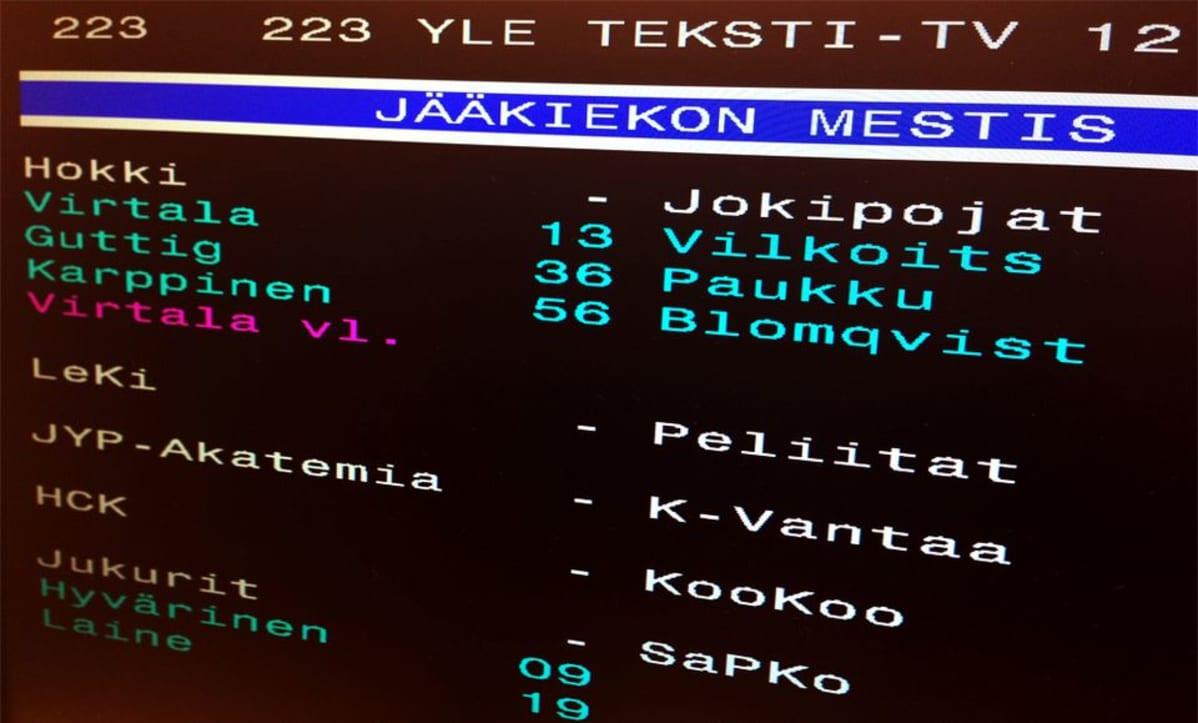 Jääkiekko Tulospalvelu