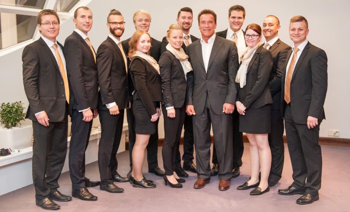 Al Goren jälkeen NBF sai lavalle senaattori-filmitähti Arnold Schwarzeneggerin.
