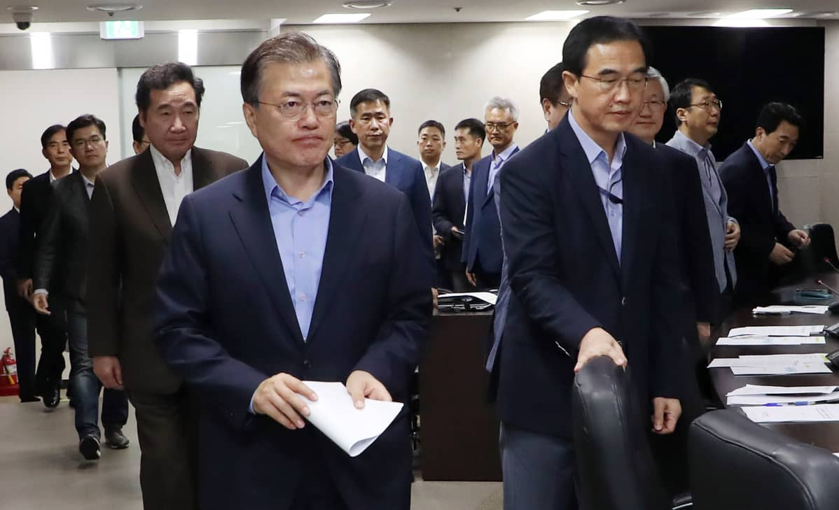 Etelä-Korean presidentti Moon Jae-in