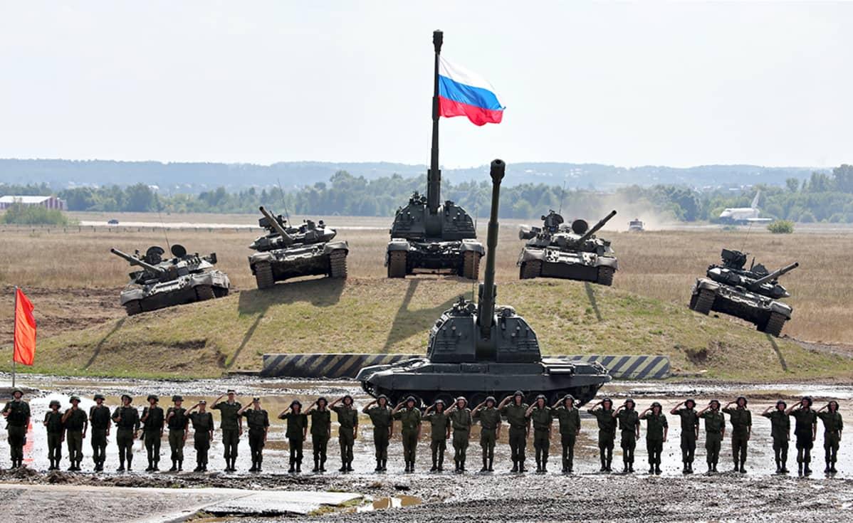Zhukovskyssa pidetyn puolustusteollisen näyttelyn kenraaliharjoitu.