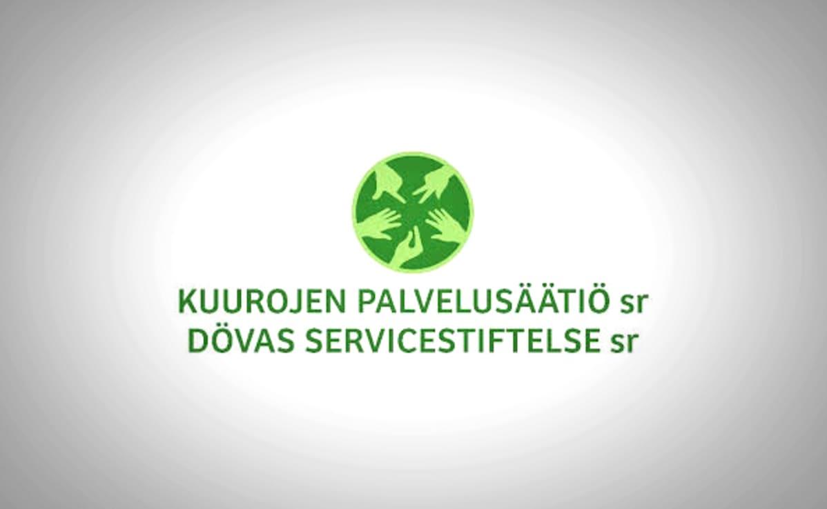 Kuurojen palvelusäätiön logo.