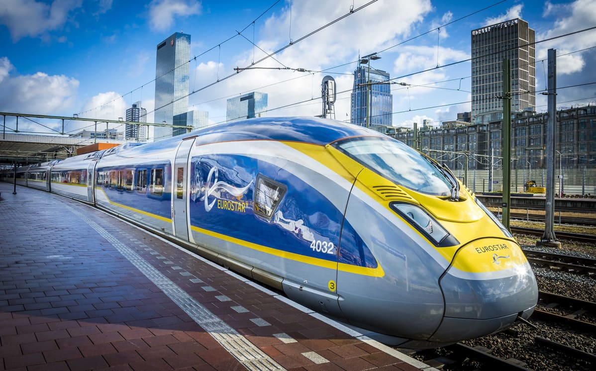 Eurostar-juna Rotterdamissa.