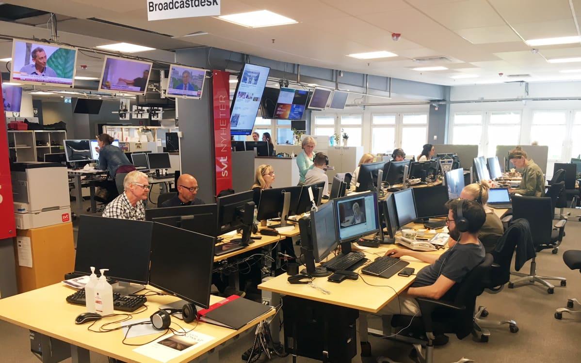 Svt:n broadcast-deski