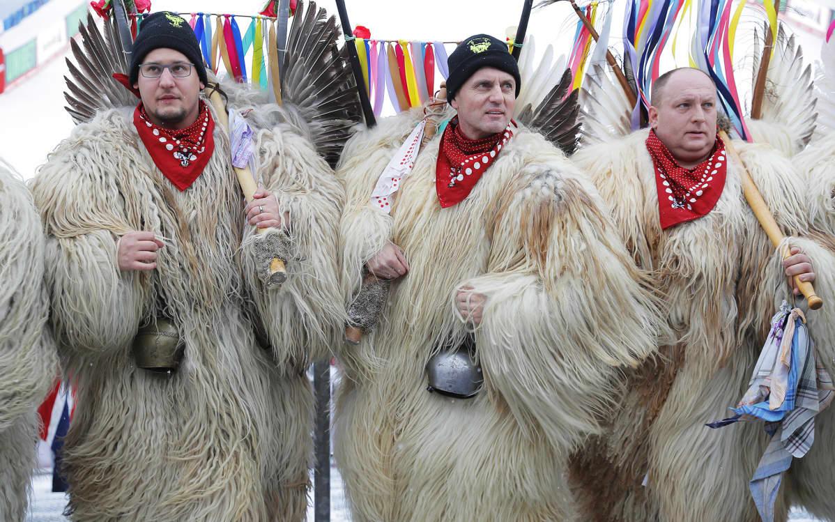 Slovenian kannattajia Åressa, Ruotsissa 8. helmikuuta. Alppihiihdon maailmanmestaruuskilpailut 2019 järjestetään 5. – 17. helmikuuta Ruotsin Åressa.