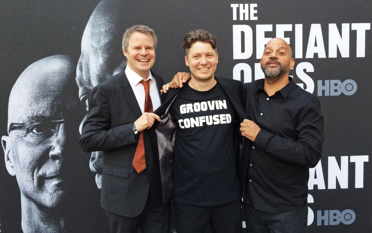 Doug Pray, Lasse Järvi ja Allen Hughes The Defiant Ones -sarjan ensi-illassa.