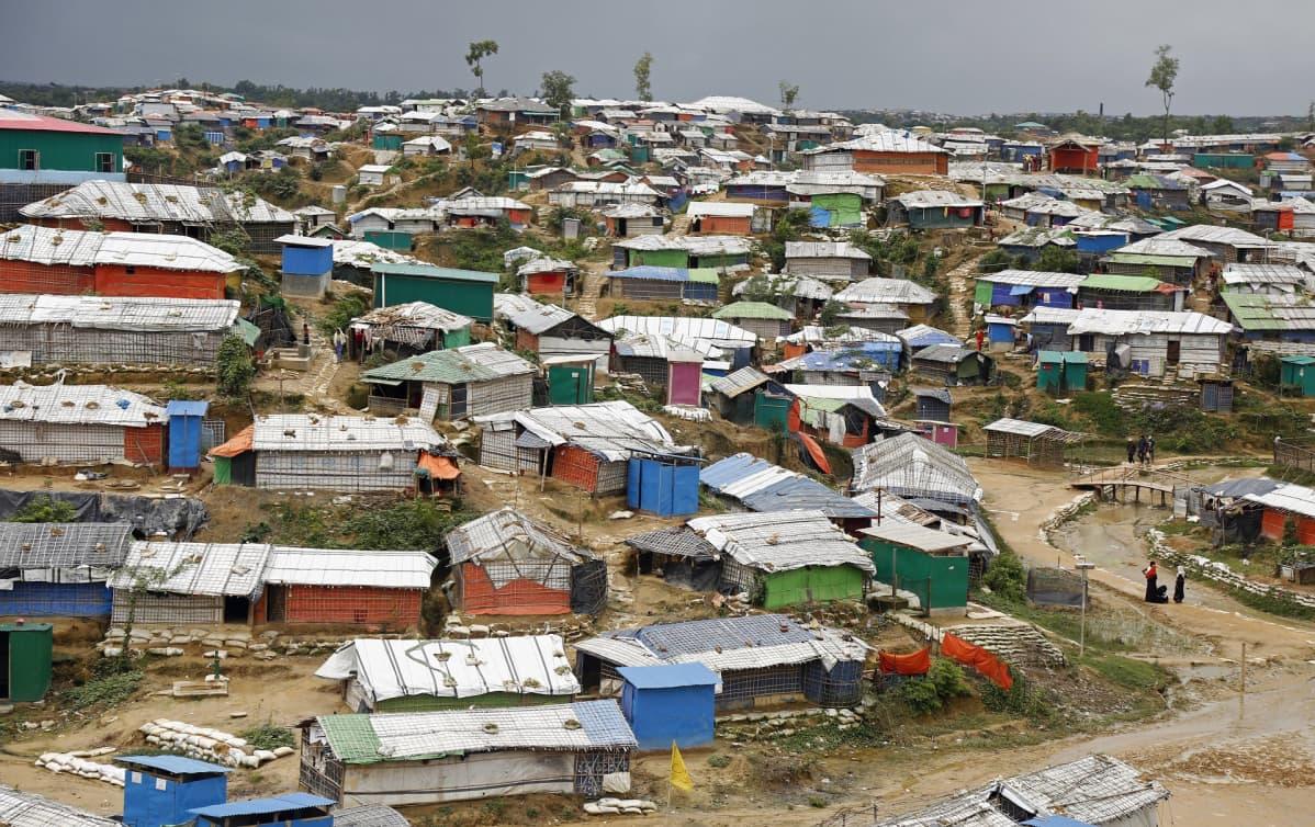 Rohingya-pakolaisten leiri Bangladeshin Cox's Bazaarissa.