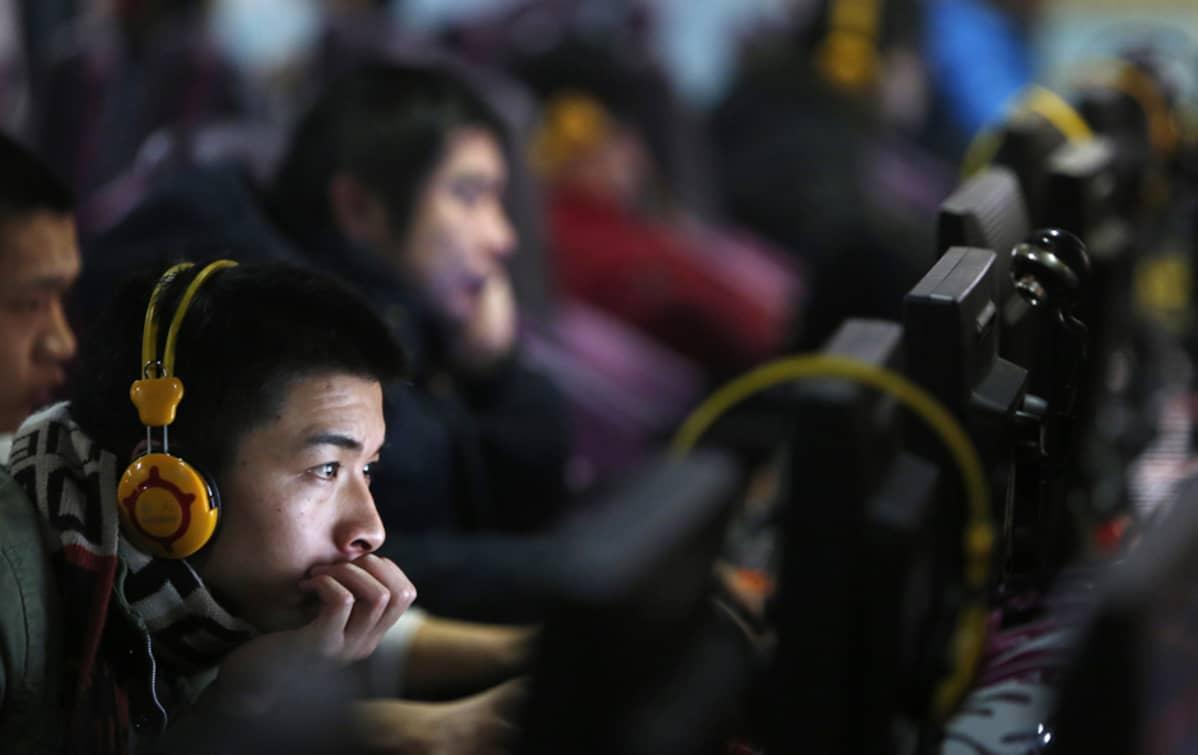 Internetkahvila Pekingissä, Kiinassa, 28. joulukuuta.