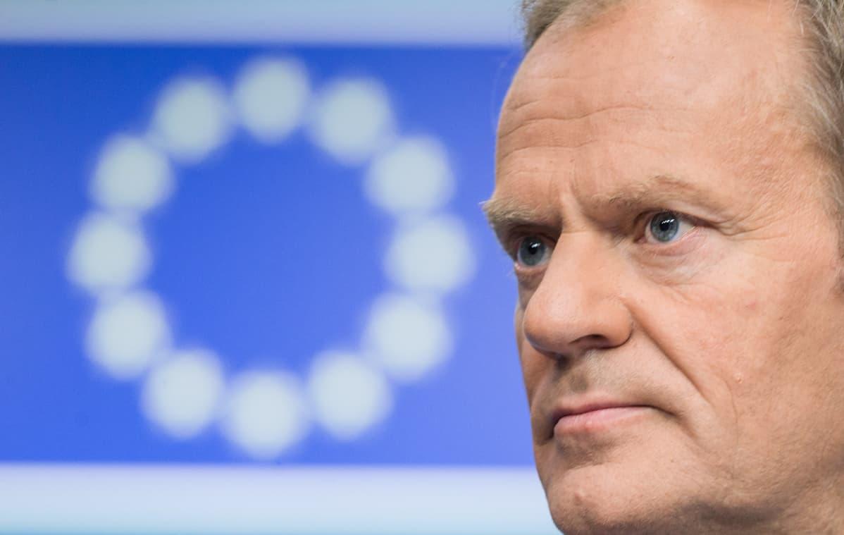 Eurooppa-neuvoston puheenjohtaja Donald Tusk.