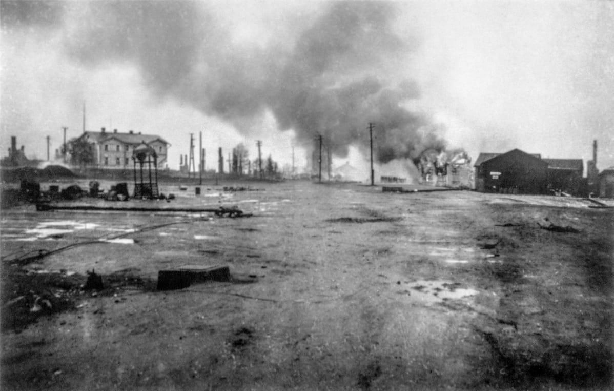 Rovaniemi paloi tuhkaksi syksyllä 1944