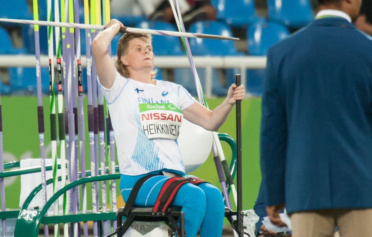 Marjaana Heikkinen Rion paralympialaisissa